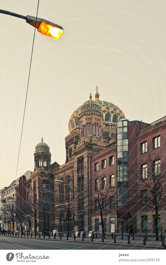 Blue Beautiful House (Residential Structure) Yellow Street Berlin Religion and faith Building Line Gold Church Belief Street lighting Tourist Attraction Capital city Domed roof