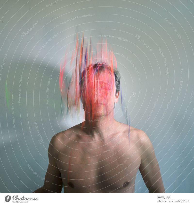 Human being Man Adults Movement Think Dream Body Skin Masculine Telecommunications String Creativity Information Technology Thought Interlaced Irritation