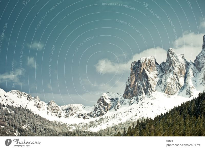 Geisler group Vacation & Travel Mountain Environment Nature Landscape Elements Sky Clouds Spring Climate Beautiful weather Snow Forest Alps Peak Snowcapped peak