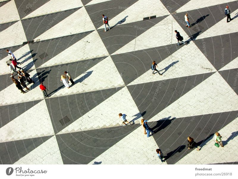 groundbreaking Bird's-eye view Stockholm Triangle Group Sweden cultural Huset Human being Shadow Structures and shapes Crazy Beautiful weather