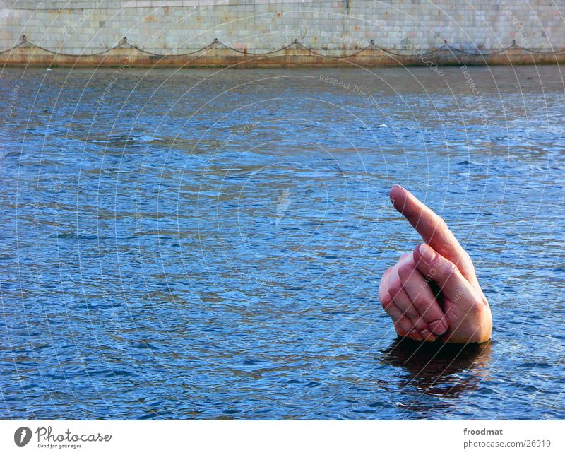 hint Forefinger Surface of water Symbolism Surrealism Indicate Clue Direction Trend-setting Upward Bizarre Strange Exceptional Funny Macabre Sacrifice