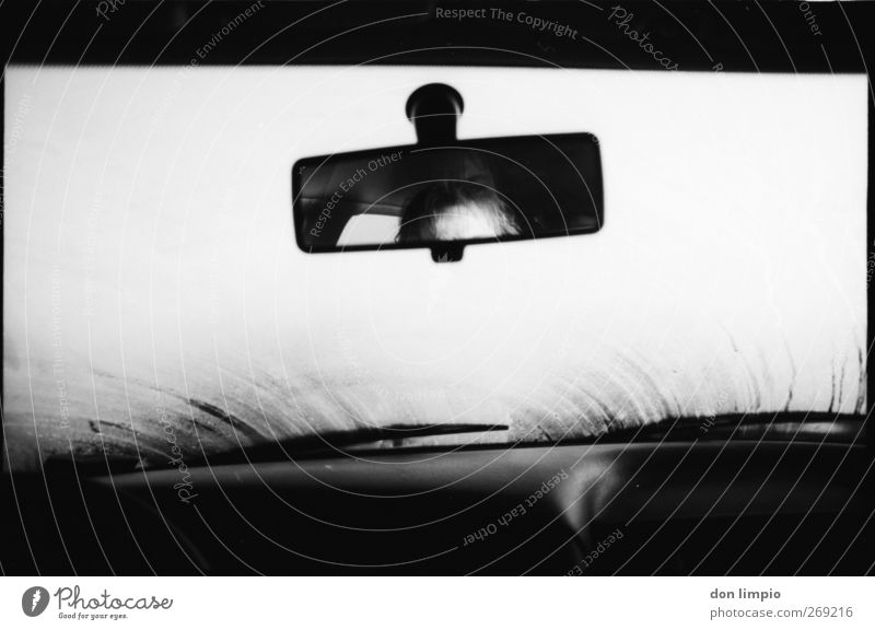 White Black Car Bright Moody Fog Driving Analog Vehicle Motoring Means of transport Front side Passenger Rear view mirror Misted up Windscreen wiper