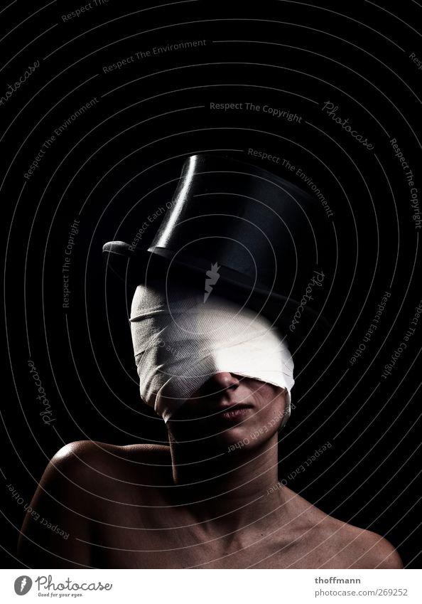 Face Crazy Hat Hide Tilt Magic Connectedness Blind Concealed Packaged Bandage Wrap up warm Headwear Masked Top hat