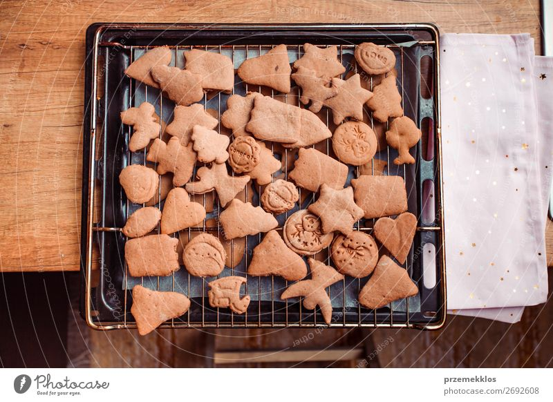 Baking Christmas cookies at home Food Dough Baked goods Cake Candy Table Kitchen Feasts & Celebrations Christmas & Advent Heart Angel Make Authentic Fresh
