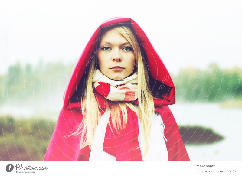 Morning Human being Youth (Young adults) White Green Beautiful Red Colour Adults Feminine Head Moody Blonde Young woman Elegant Natural 18 - 30 years
