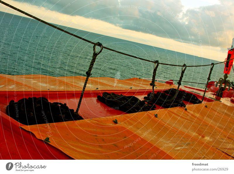 Rescue - Orange Ocean Dinghy Watercraft Damp Wet Evening sun Covers (Construction) Navigation Sweden Rope Crazy Snail