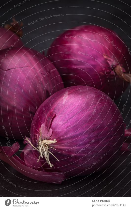 Red onion in close up Food Vegetable Nutrition Eating Vegetarian diet Slow food Healthy Alternative medicine Healthy Eating Life Cure Background picture