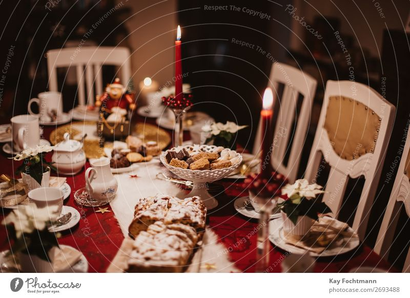 decoraded christmas table baked bakery baking biscuit cake candles candy celebration confectionery contemplation cookie cozy decorated decoration delicious