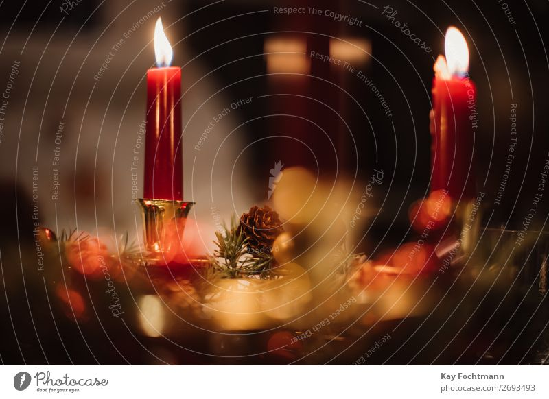burning candles and christmas decoration advent advent season art atmospheric background backgrounds beautiful branches candlelight celebration christmas time