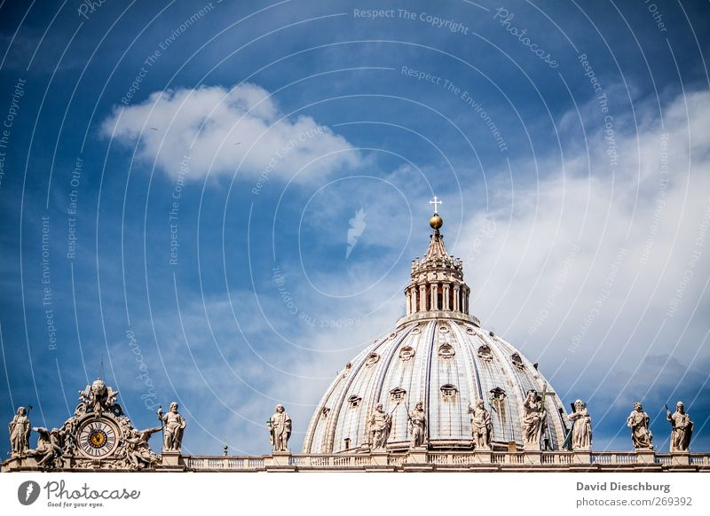 Rome/Peter's Cathedral II Vacation & Travel Sightseeing City trip Capital city Downtown Old town Church Dome Roof Tourist Attraction Landmark Monument Blue