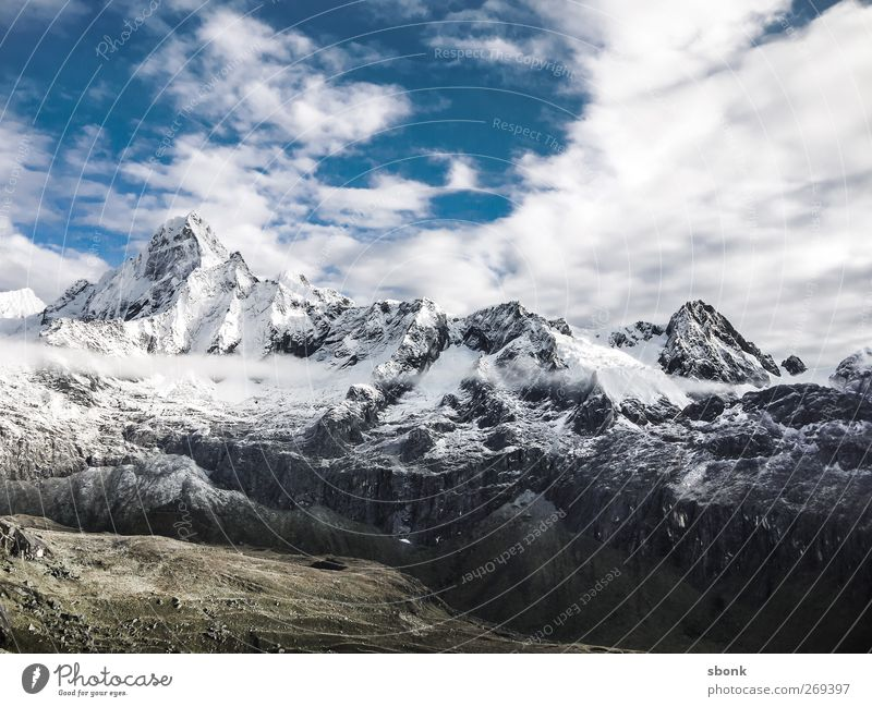 Peru Mountain Explorers Environment Nature Landscape Tree Hill Rock Alps Peak Snowcapped peak Glacier Vacation & Travel Hiking South America Exterior shot
