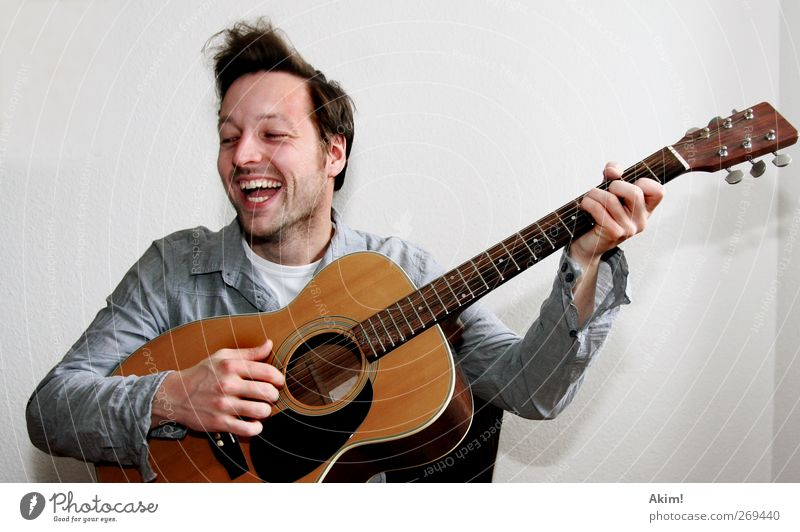 Play Fun Guitar Joy Happy Leisure and hobbies Playing Freedom Summer Entertainment Music Feasts & Celebrations Birthday University & College student Human being