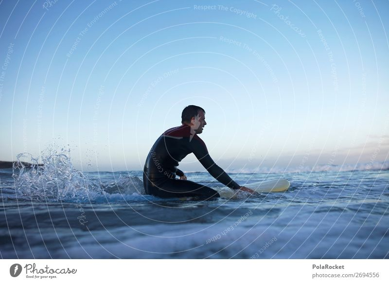 #AS# waiting for the perfect wave Lifestyle Happy Surfing Surfer Waves Surfboard Swimming & Bathing Wait Neoprene Wetsuit Break Relaxation Paddling Colour photo