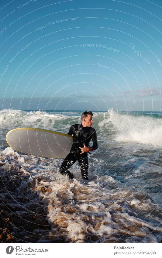 #AS# incoming 1 Human being Esthetic Surfing Surfer Surfboard Surf school Waves Swell Aquatics Man Masculine Activity holiday Summer vacation Vacation mood