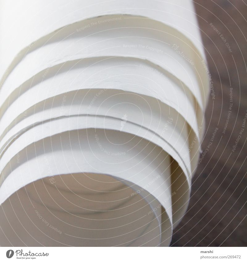 Room for many words Sign White Paper role Wallpaper Empty Rolled Coil Structures and shapes Colour photo Interior shot Detail