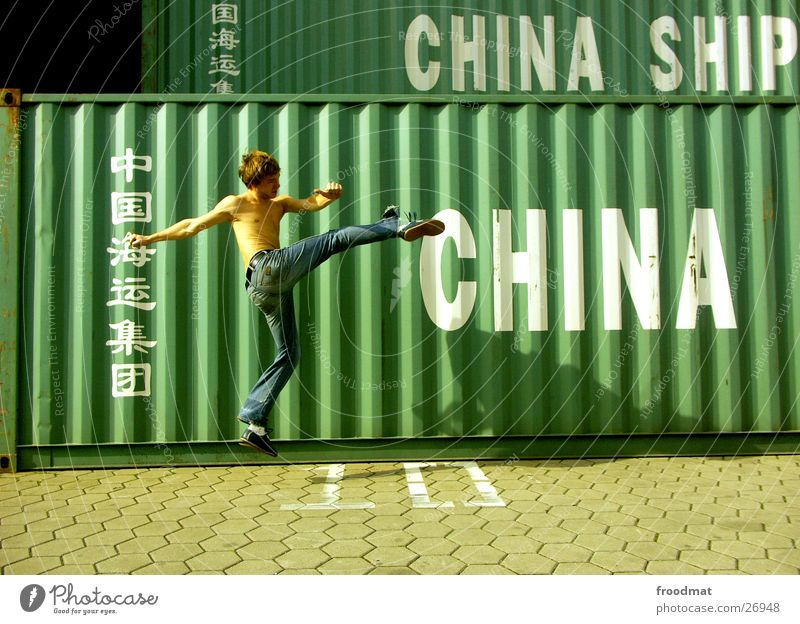 China #1 Martial arts Jump Action Sunday Typography Karate Chinese martial art Kick Footstep Frozen Extreme sports Container Beautiful weather Jeans Movement