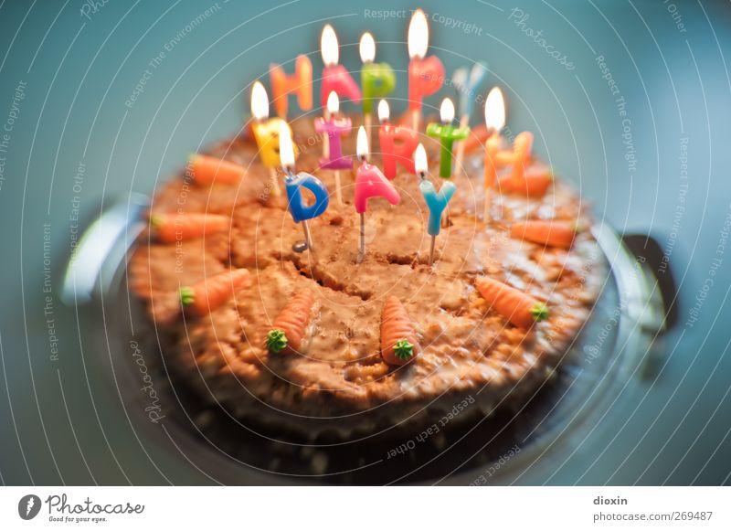 Nutrition Food Birthday Illuminate Sweet Candle To enjoy Delicious Cake Joie de vivre (Vitality) Burn Dessert Carrot Sense of taste Candlelight Birthday cake