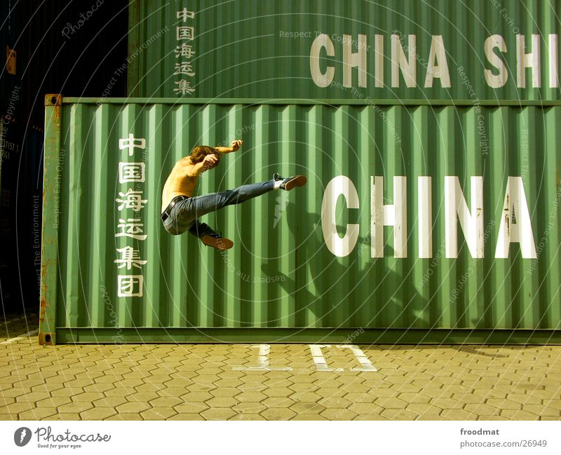 Movement Jump Action Jeans Harbour Beautiful weather Frozen China Typography Container Martial arts Sunday Karate Kick Footstep Extreme sports