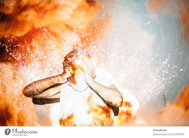 Human being Sadness Fear Blaze Illuminate Threat Pain Fear of death Scream Stress Chaos Distress Effort Disaster Feeble Exhaustion
