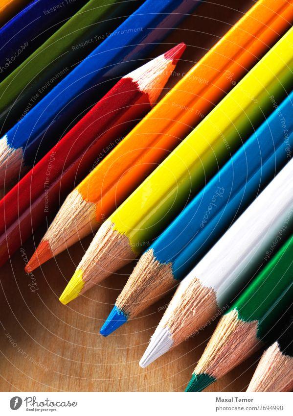 Colored pencils Blue Colour Green White Red Black Yellow Art School Illustration Draw Pencil Watercolor