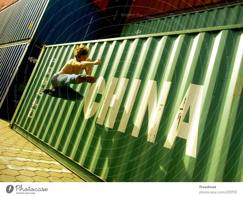 China #3 Martial arts Jump Action Sunday Typography Karate Chinese martial art Kick Footstep Frozen Extreme sports Container Beautiful weather Jeans Movement