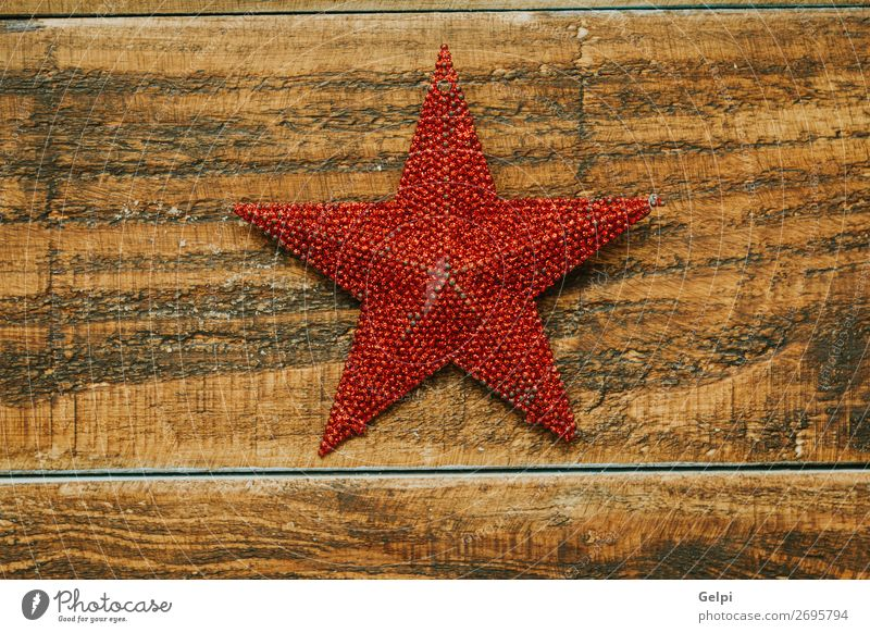 Bright red star for decoration Winter Decoration Feasts & Celebrations Christmas & Advent Wood Ornament Glittering New Red White Colour Tradition christmas