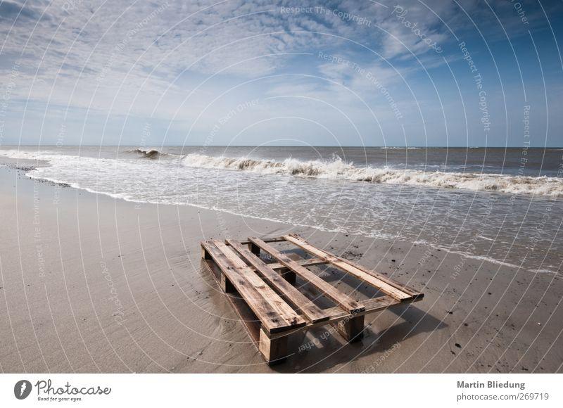 Strandgut#1 Blue Water White Vacation & Travel Ocean Beach Far-off places Landscape Wood Coast Sand Brown Waves Natural Wet Elements