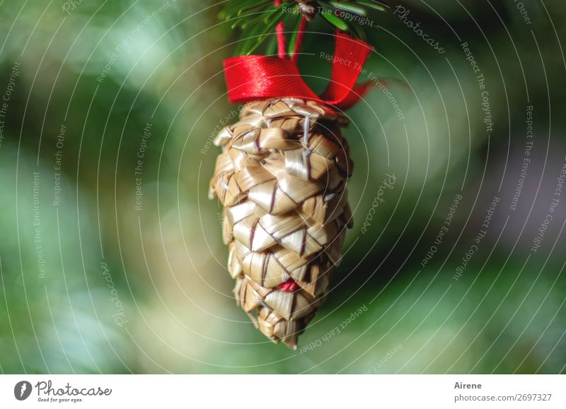 O Fir cone Handicraft Living or residing Decoration Christmas & Advent Christmas tree decorations Bow Feasts & Celebrations Hang Esthetic Simple Natural