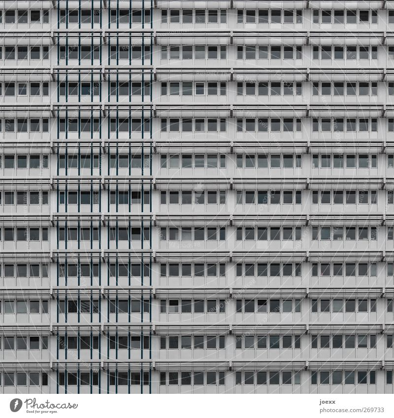 container Town House (Residential Structure) High-rise Building Facade Window Hideous Gray Colour photo Subdued colour Exterior shot Deserted Day