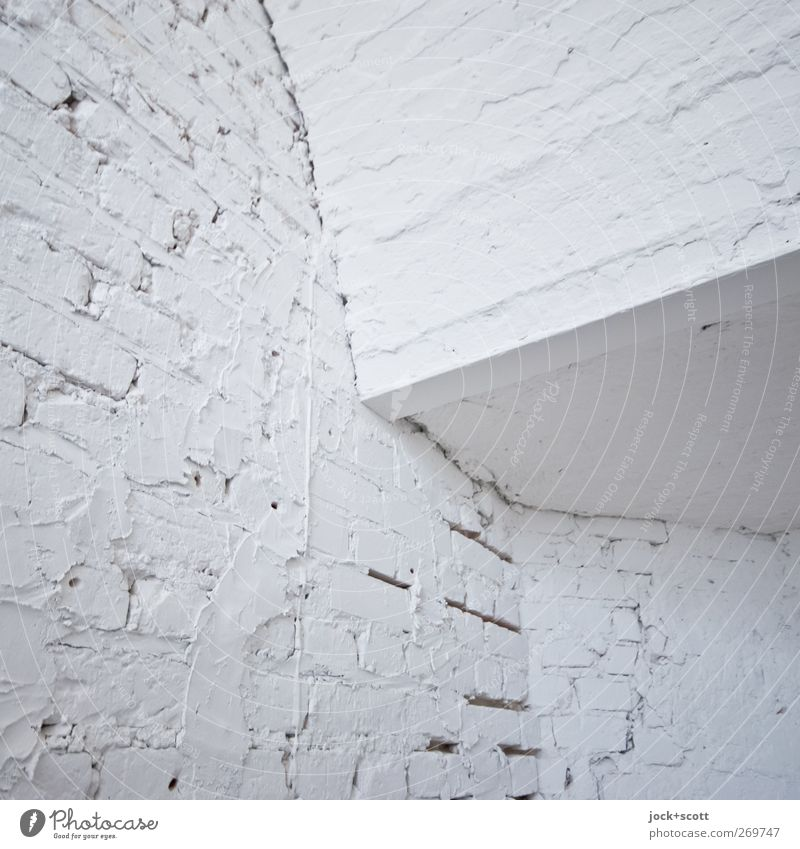 not a patch on Colour White Wall (building) Wall (barrier) Stone Line Bright Arrangement Gloomy Esthetic Corner Simple Clean Network Pure Staircase (Hallway)