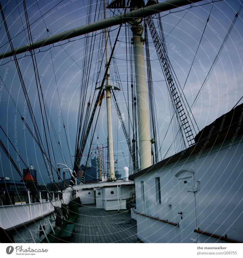 Blue White Black Gray Rope Hamburg Europe Perspective Harbour Federal eagle Navigation Whimsical Sail Nerviness Port City Sailing ship