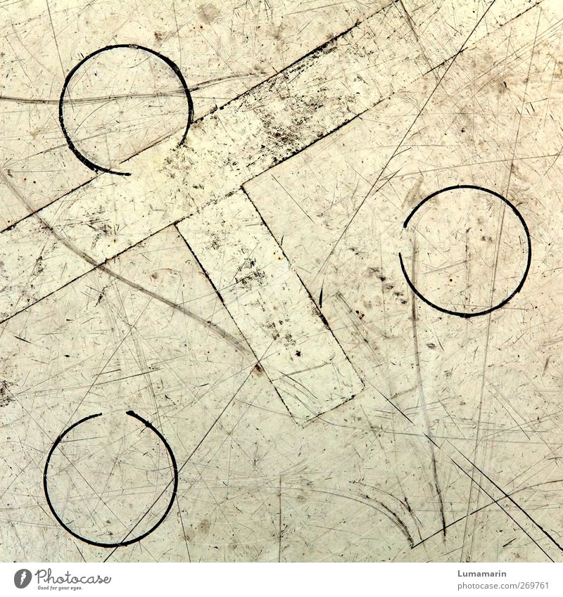Old Line Dirty Arrangement Signs and labeling Circle Floor covering Corner Round Simple Tracks Trashy Relationship Symmetry Geometry