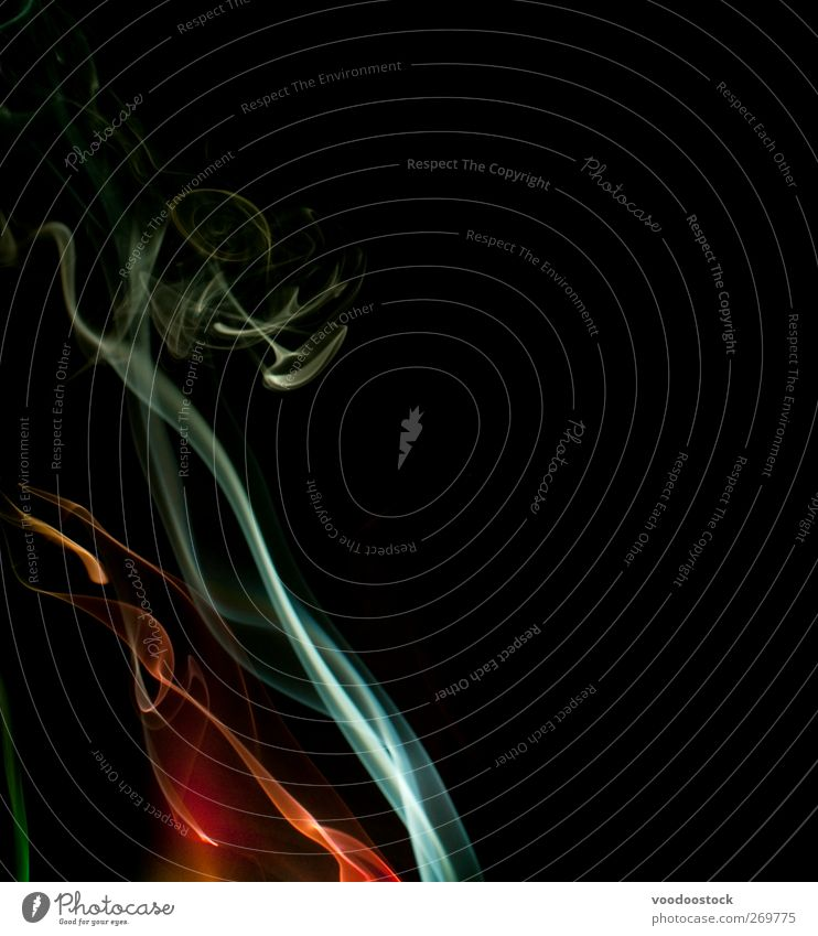 Whisps of Smoke Air Fog Waves Lanes & trails Green Red Colour Surrealism delicate dynamic Effect ethereal Flow form fumes graceful Insubstantial light movement