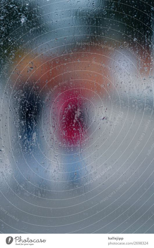 drizzle Human being 2 Environment Nature Water Drops of water Weather Bad weather Rain Going Drizzle Window pane Misted up Damp Blur Reflection Colour photo