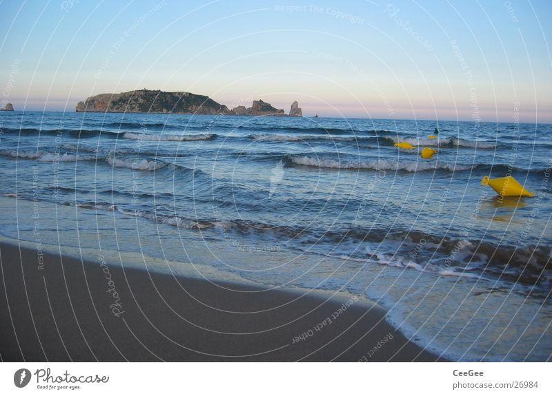 Water Sky Ocean Blue Beach Yellow Far-off places Sand Waves Coast Wet Horizon Europe Island Spain Damp