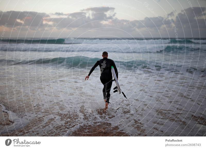 #AS# RUN Art Esthetic Surfing Surfer Surfboard Surf school Ocean Walking Arise Wetsuit Aquatics Colour photo Multicoloured Exterior shot Detail Experimental