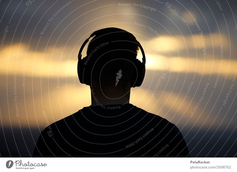 #AS# Nice Beats Lifestyle Listening Music Headphones Sunrise To enjoy Dream Halo Awareness Meditation Relaxation Future Listen to music Sunbeam Colour photo
