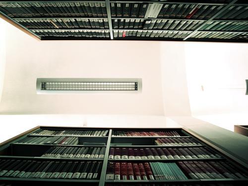 Lamp Book Perspective Education Symmetry Library Shelves Competent Bookshelf Skylight Ceiling light