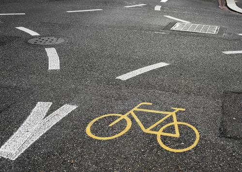 All right on the road again. Transport Traffic infrastructure Cycling Street Lanes & trails Road sign Asphalt Tar Dye Gully Stone Concrete Sign