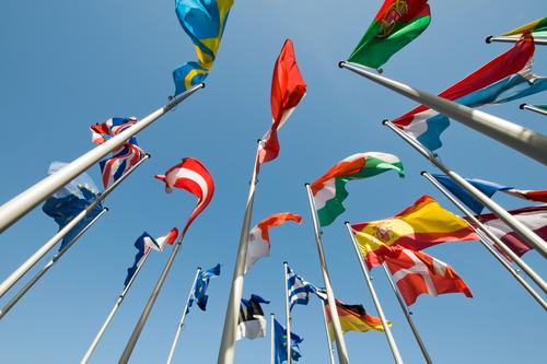 Europe Flag Sign Peace Society Economy Cloudless sky Politics and state International Versatile Global Multicultural