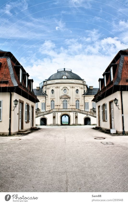 Solitude Castle Stuttgart Manmade structures Architecture Tourist Attraction Simple Free Historic Cold Rich Blue Honor Purity Longing Esthetic Reliability