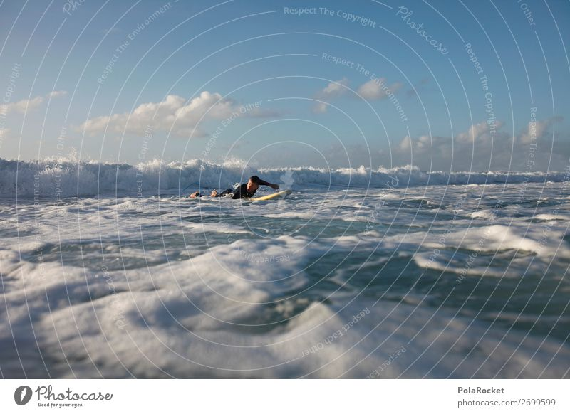 #AS# paddle paddle 1 Human being Esthetic Surfing Surfer Surfboard Surf school Waves Ocean Fuerteventura Aquatics Colour photo Subdued colour Exterior shot