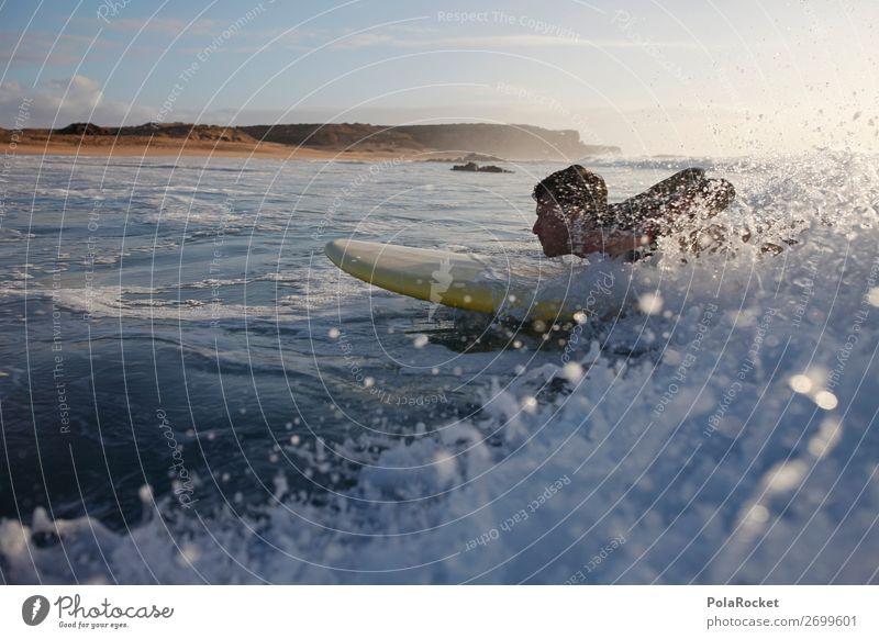 #AS# getting started Art Esthetic Surfing Surfer Surfboard Surf school Waves Undulation Aquatics Fuerteventura Colour photo Subdued colour Exterior shot Detail