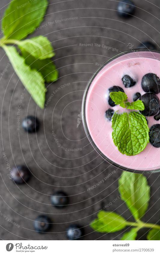 Blueberry smoothie or milkshake in a jar Milkshake Juice Fruit Berries Healthy Healthy Eating Food Food photograph Beverage Drinking Purple Cocktail Dessert
