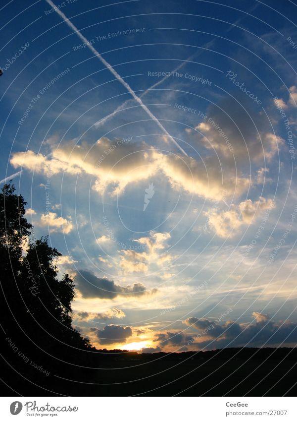celestial cross Sunset Light Clouds Dark Black Yellow Stripe Lighting Evening Shadow Sky Orange Back