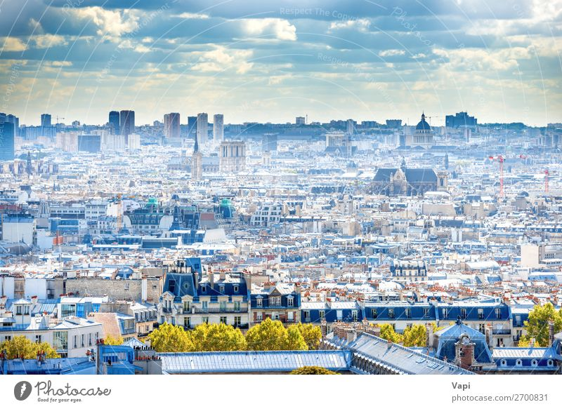 Panorama city of Paris from Montmartre Beautiful Vacation & Travel Tourism Trip Adventure Far-off places Sightseeing City trip Summer Summer vacation Sun