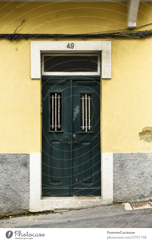 Vacation & Travel Green House (Residential Structure) Travel photography Yellow Living or residing Door Portugal Lisbon