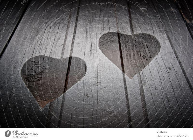 Hiddensee. I love. Wood Sign Heart Love Kitsch Happy Shutter Double exposure Experimental