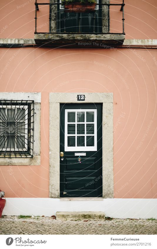 Vacation & Travel Green House (Residential Structure) Travel photography Facade Pink Living or residing Door Portugal