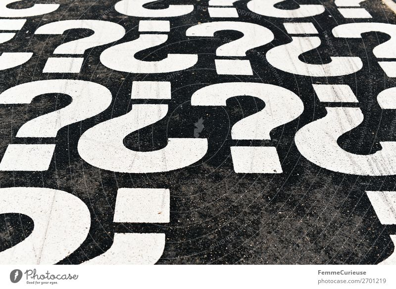 Characters Communicate Telecommunications Signs and labeling Footpath Sidewalk Ask Language Question mark Punctuation mark